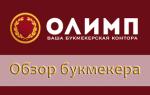 Официальный сайт БК Олимп и букмекерская контора Olimpbet